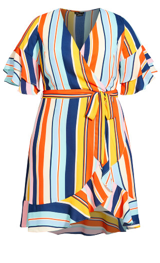 Summer Stripe Dress - multi