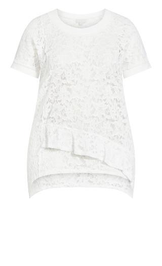 Frances Lace Top - white