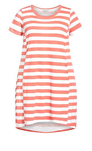 Hello Sunshine Dress - red stripe