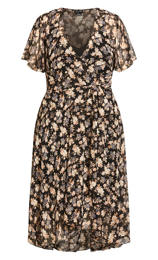 Fleur Ditsy Dress - black