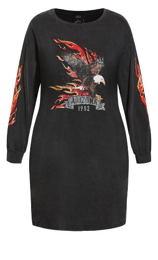 Graphic Dress - black