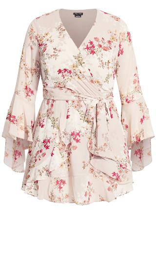 Flower Flow Dress - blush