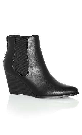 Maddie Wedge Boot - black