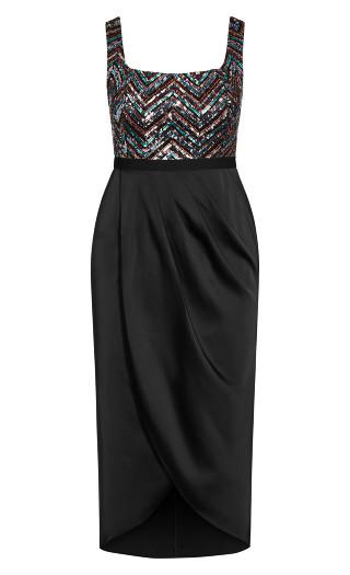 Sequin Bodice Dress - multi
