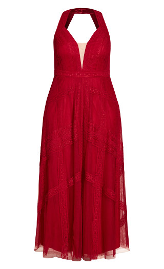 Divine Whimsy Maxi Dress - amour red