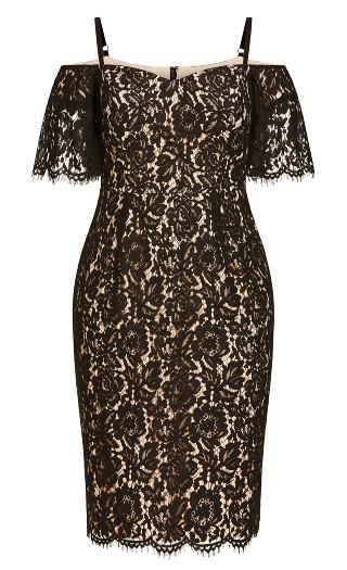 Lace Whisper Dress - black