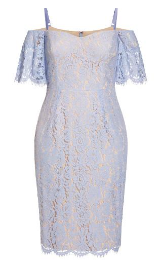 Lace Whisper Dress - powder blue
