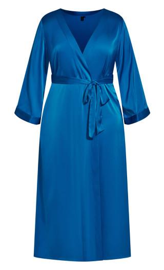 Wrap Satin Long - french blue