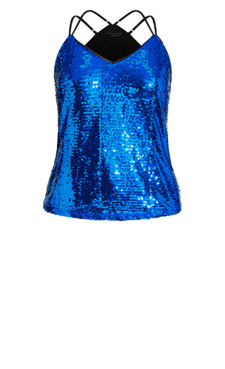 Glimmer Top - electric blue