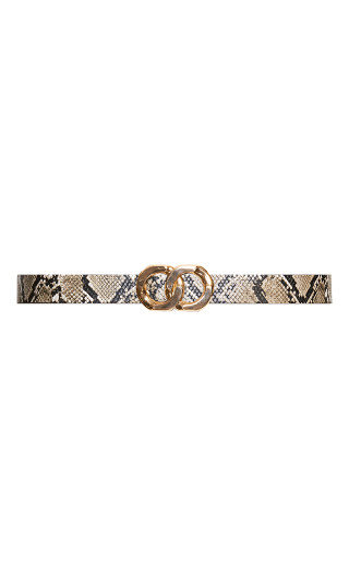 Snake Buckle Belt - natural