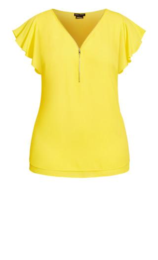 Zip Fling Top - daffodil