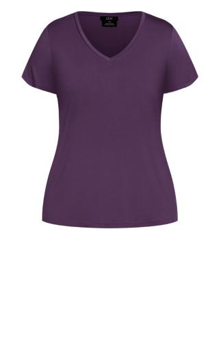 Deep V Tee - violet