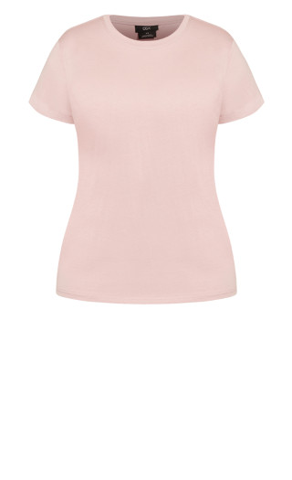 Basic Longline Tee - dusty rose