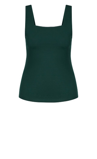 Square Neck Cami - jade