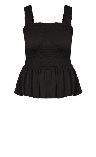 Shirred Love Top - black