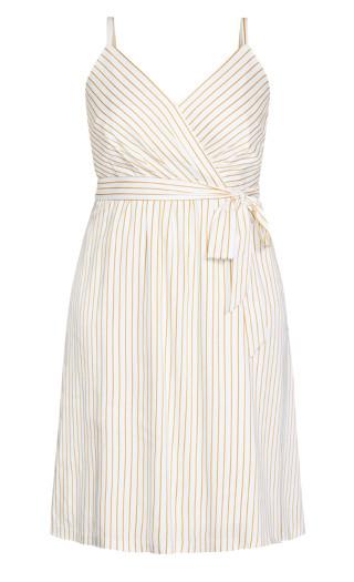 Elegant Stripe Dress - ivory