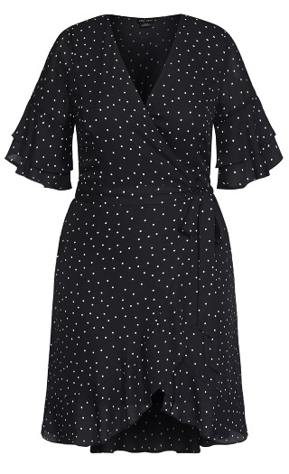 Charmed Spot Dress - black