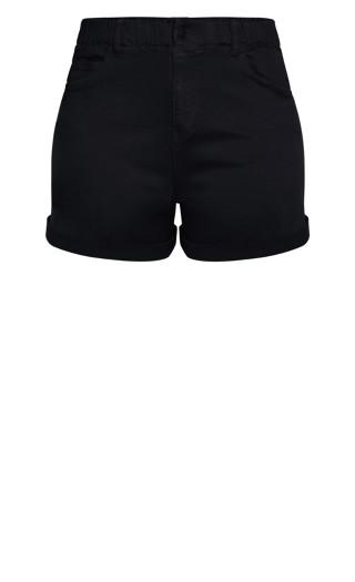 Ruffle Waist Short - black