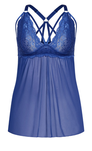 Sophie Strappy Babydoll - blue