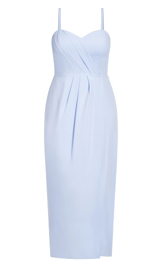 Sweet Drape Maxi Dress - powder