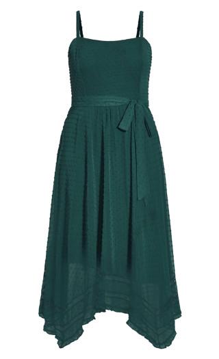 Flirty Nature Dress - jade