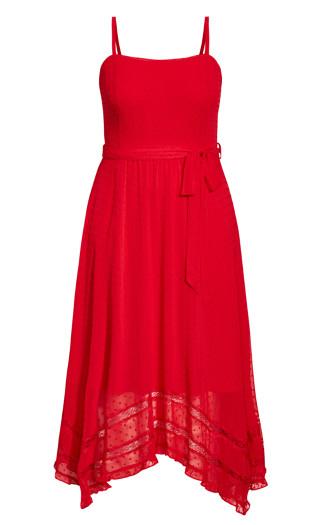 Flirty Nature Dress - red