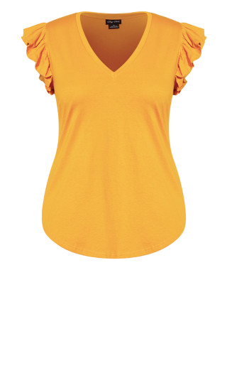 Leisure Frill Top - honey