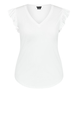 Leisure Frill Top - ivory