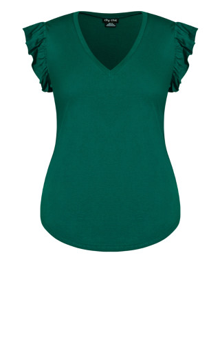 Leisure Frill Top - sea green