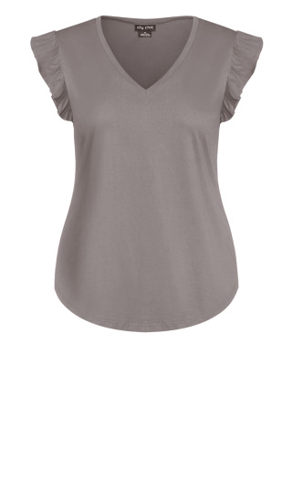 Leisure Frill Top - slate