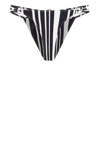 Amara Print Bikini Pant - black