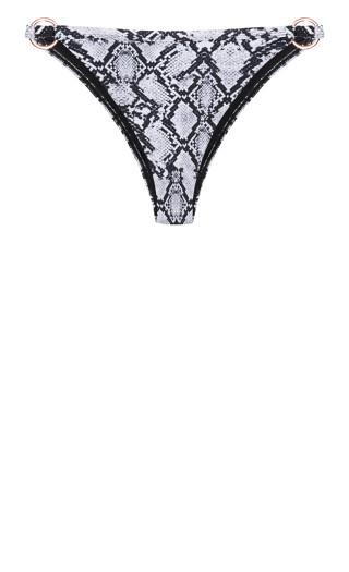 Greta Print Bikini Pant - black snake