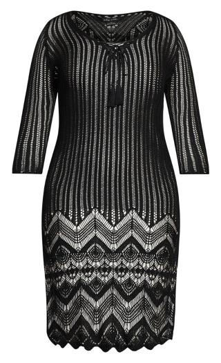 Crochet Love Tunic - black