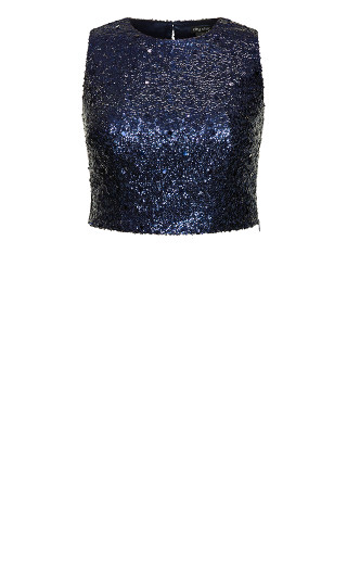 Be Dazzle Top - sapphire