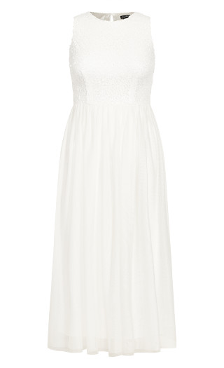 Shine Bright Maxi Dress - ivory