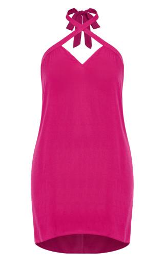 X Front Dress - hot pink