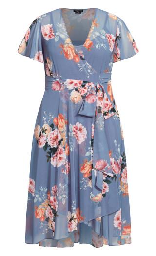 Florence Frill Dress - mauve