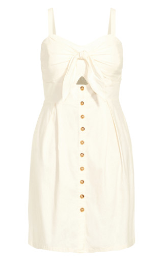 Sweetly Tied Dress - ivory