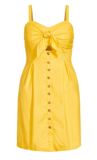 Sweetly Tied Dress - sunshine