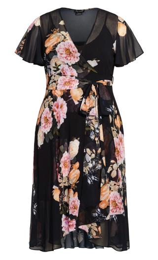 Tuscan Frill Dress - black