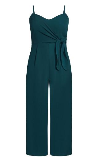 Sweet Tie Jumpsuit - jade