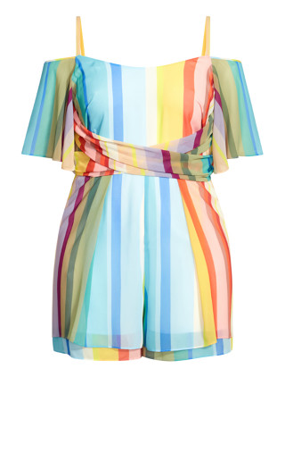 Gelato Stripe Playsuit - sunset