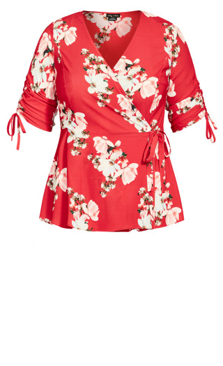 Lady Ascot Top - red