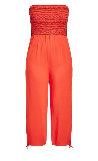 Stitched Jumpsuit - papaya
