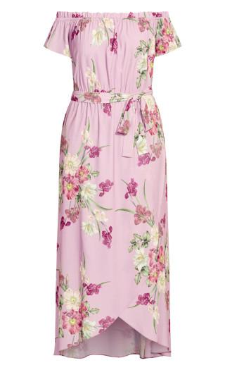Pink Floral Maxi Dress - musk