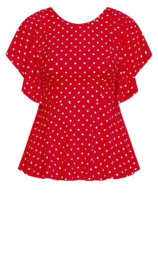 Red Love Spot Top - red