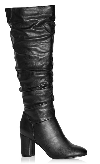 Petra Sleek Knee Boot - black
