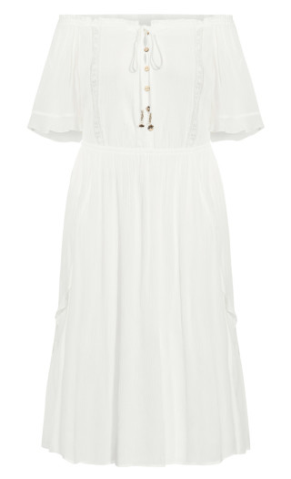 Lost Angel Maxi Dress - ivory
