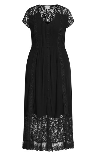 City Of Angels Maxi Dress - black