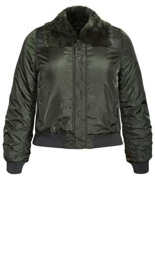 Fly High Bomber Jacket - forest
